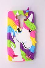 Phone Case LG Optimus G3 D850 D855 2015 3D Cute Cartoon Colorful Unicorn Pattern Soft Silicone Back Cover - Superseller 2014 store
