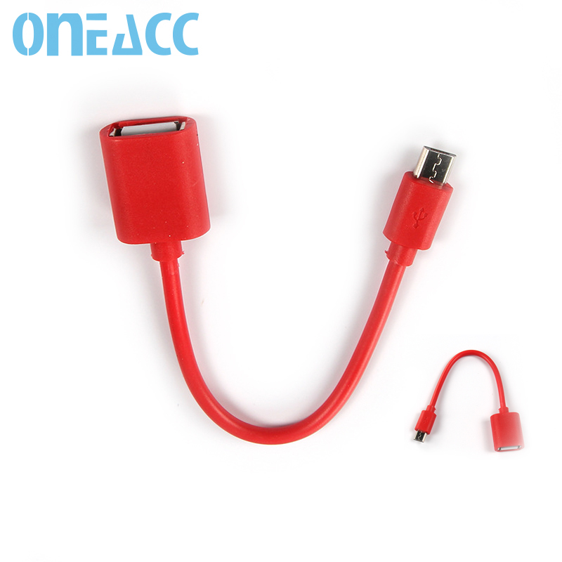 Manufacturer direct sale OTG cable for S4 Android phone New OTG data line U disk connecting USB Micro adapter cable 15cm(China (Mainland))