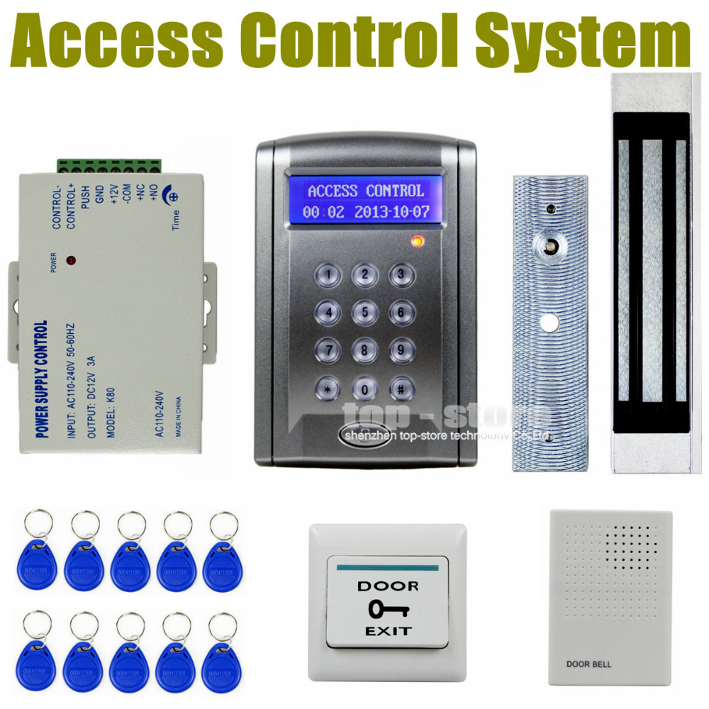 DIY Remote Control 180kg 350 LBs Kit Electric Magnetic Door Lock Access Control RFID 125KHz ID Card Security System BC200(China (Mainland))