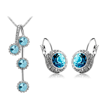 Rhinestone Silver/Gold Plated Jewelry Set