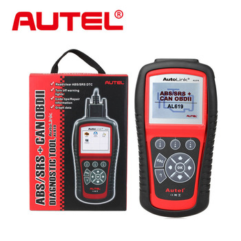 2015 New Arrival Autel Autolink AL619 ABS / SRS + CAN OBDII Car Diagnostic Scan Tool Check Engine ABS SRS warning lights
