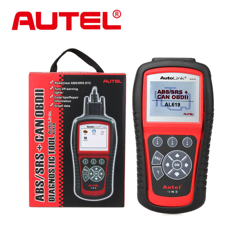 2015 New Arrival Autel Autolink AL619 ABS / SRS + CAN OBDII Car Diagnostic Scan Tool Check Engine ABS SRS warning lights(China (Mainland))