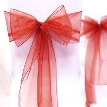 Organza Chair Sashes Bow for Wedding Party Decoration