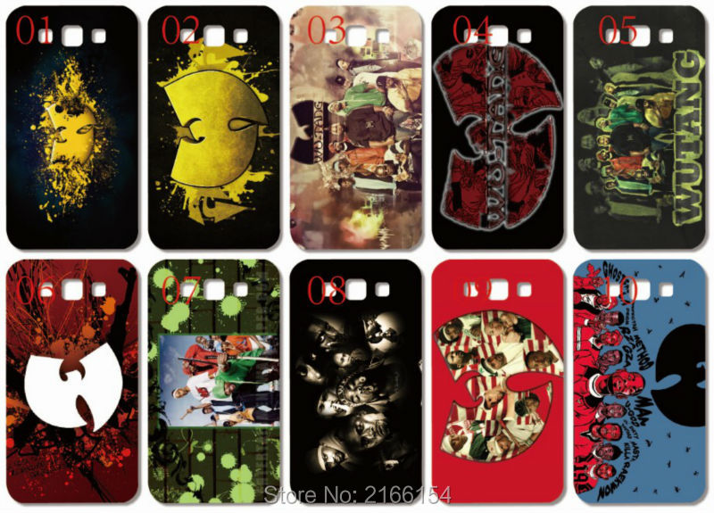 wu tang Logo Painting plastic Hard Cover Samsung Galaxy S2 S3 S4 S5 Mini S6 S7 Edge Plus Note 2 3 4 5 Mobile Cell phone Case
