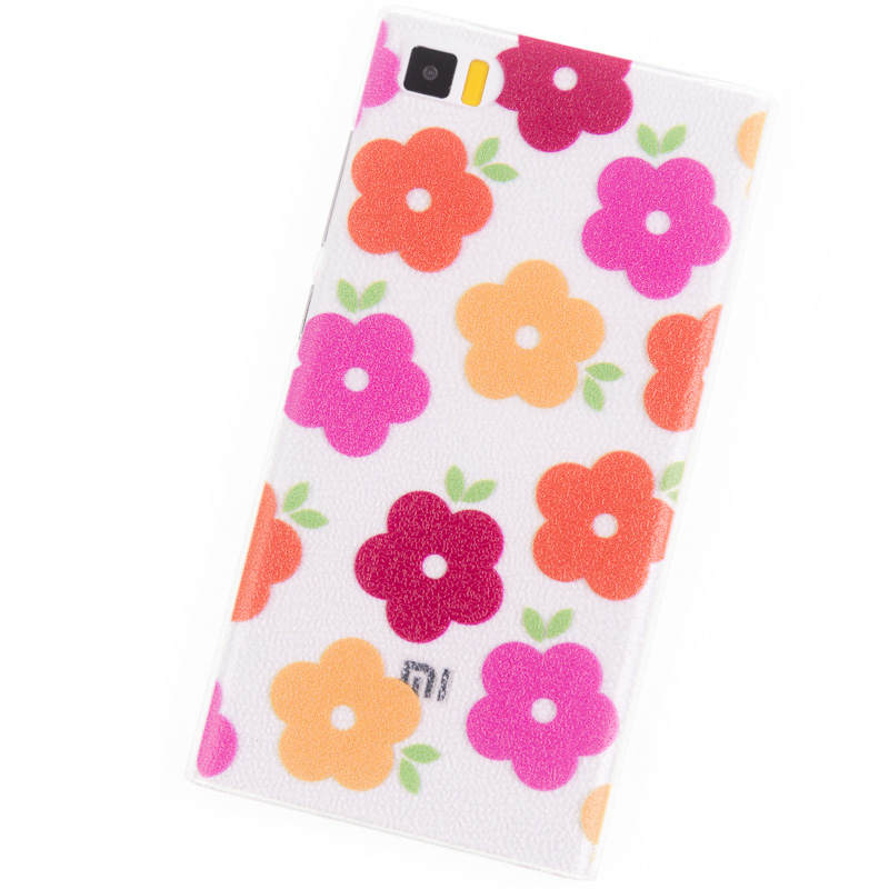Phone Cases for Xiaomi Mi3 case colord flowers Back Cover mobile phone bags & cases Brand original film accessories(China (Mainland))