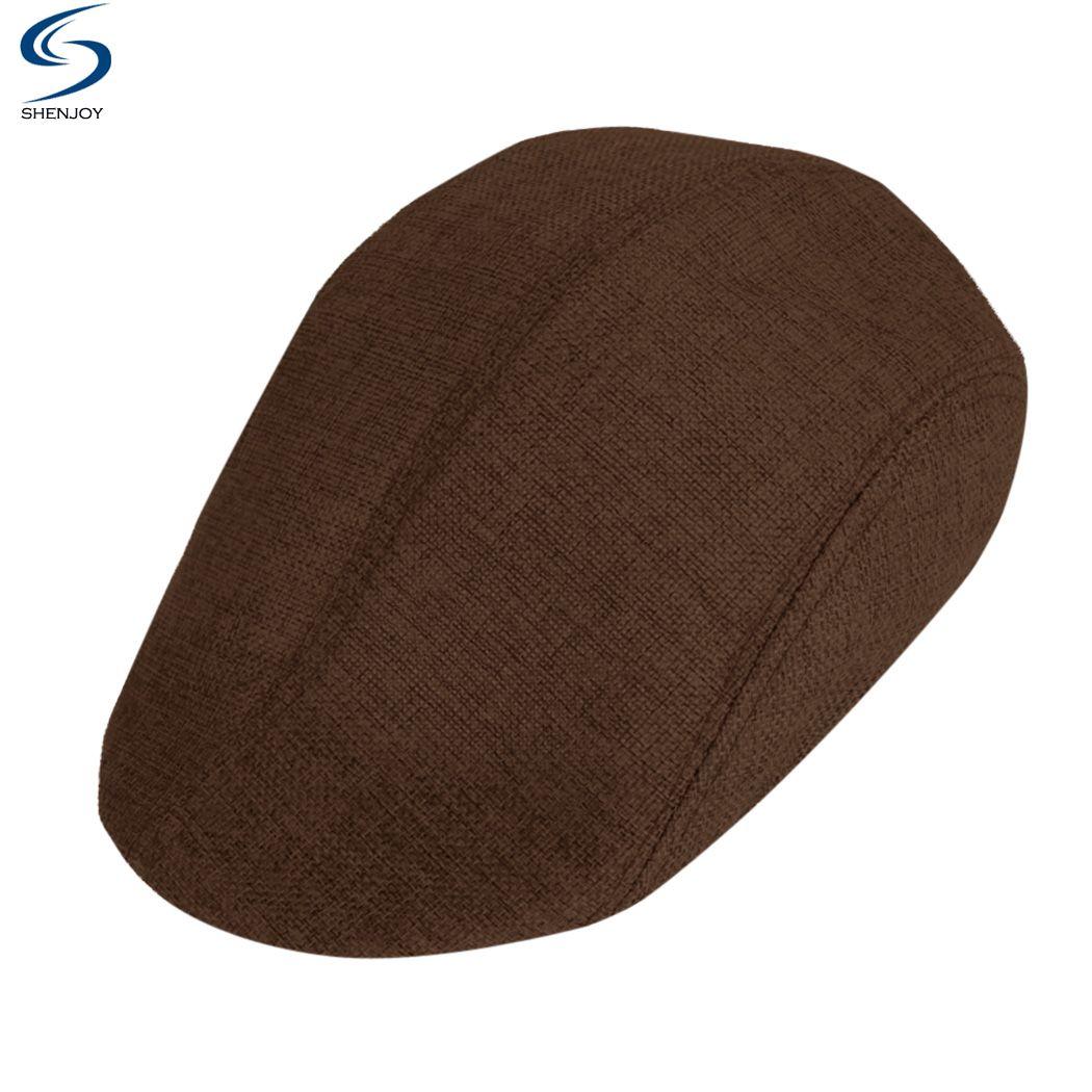 Men's flat cap gorras planas Spring Classic Linen Beret Male Hat Summer Duckbill Cap Winter Golf caps sunbonnet(China (Mainland))