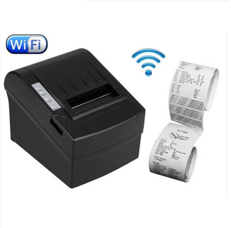 Новый USB WiFi 80 мм POS-Тепловая чековый принтер Билла установить Автоматический резак рулонной бумаги 300мм/s_DHL