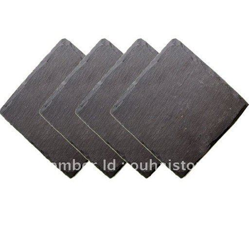 Natural slate wine coaster/bar coaster/drinking cup coaster