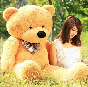 5 colors 160cm giant teddy bear soft toy brown plush toys children cute soft peluches baby doll big stuffed animals large sale(China (Mainland))
