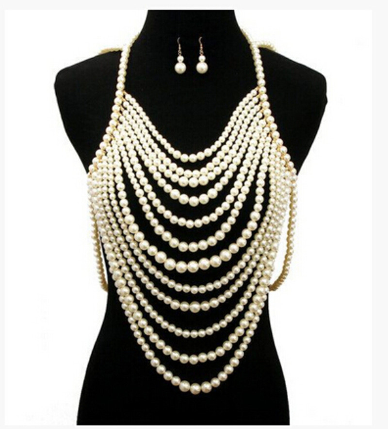 FREE SHIPPING! NEW STYLE P01 IMITATION PEARLS CHAINS ...