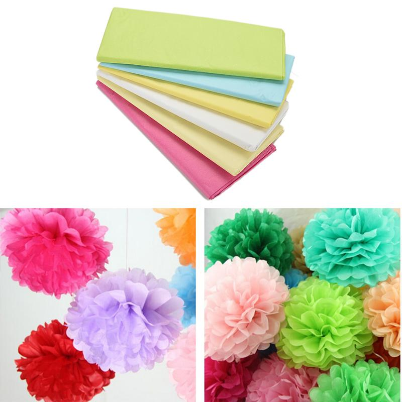 20Pcs/pack Tissue Paper Wrapping Paper Gift Packing Craft Paper Roll Wrapping for Wine Bag Shoes Garment Packaging Paper 50*66cm(China (Mainland))