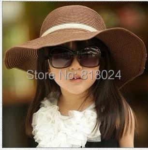 ( 7 цветов для выбирают ) дети в солома шляпа цветок девочка кепка девочка лето шляпа девочка солнца шляпа пляж козырек шляпа