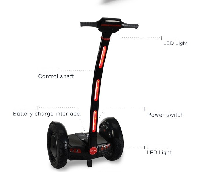 15 Inch High Tech Materials two-Wheel Self balancing scooter transporter Vehicle off road Motocross Hoverboard with LED Display 15