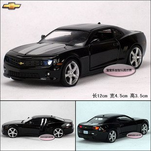 1:36 Chevrolet Camaro Bumblebee Diecast Car Model toy Sound&Light Black B1910(China (Mainland))