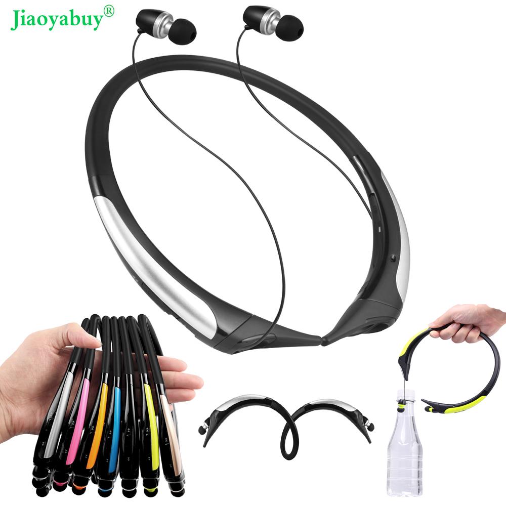 Jiaoyabuy Wirless Bluetooth stereo Headset Retractable Sports sweatband Headphones high quality earphone for LG Iphone Samsung(China (Mainland))