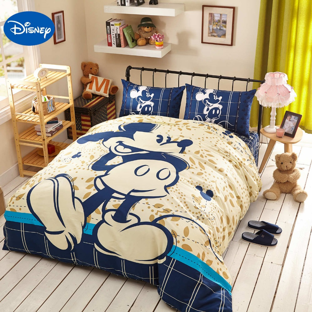 Cartoons Bedroom Sets For Teenagers : Disney Cartoon Mickey Mouse 3D Printing Bedding Set for Kids Bedroom ...