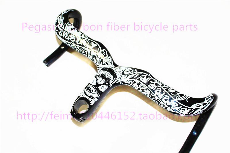 2014 New 2015 Mike Giant full carbon fiber road bike handlebar bend Siamese road bike accessories(China (Mainland))