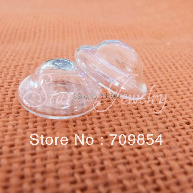 400pcs 25*17mm UFO-style clear glass bubble bottle /DIY ring base materials