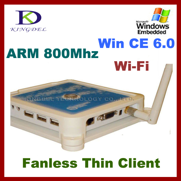 KINGDEL Mini PC, PC Share Terminal with ARM11 800Mhz, Microphone, 3*USB, Windows CE 6.0