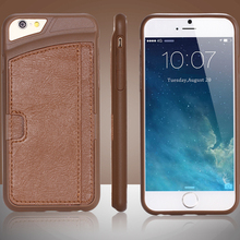 "Mobile Phone Accessories PU Leather Practical Card Insert On Back Case For iphone 6 4.7"" Cellphone Cover Shockproof Shell"