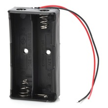 7.4V 2 x 18650 Battery Holder Case Box with Leads(China (Mainland))