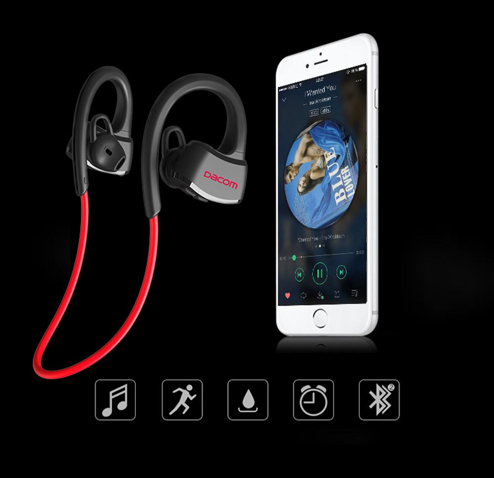 Original Dacom P10 Bluetooth Headset IPX7 Waterproof Wireless Sport Running Headphone Stereo Music Earbuds Headsfree with Mic