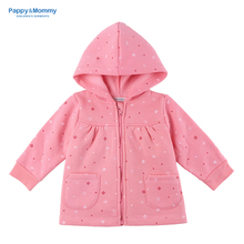 Pappy&Mommy 2016 Girls Pink Casual Hoodies & Sweatshirts(China (Mainland))
