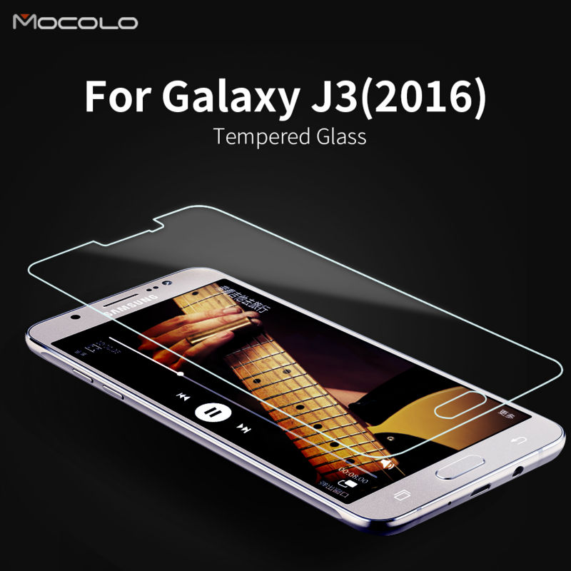 Mocolo For Samsung Galaxy J3(2016) Tempered Glass Screen Protector 2016 Version New Glass Protection(China (Mainland))