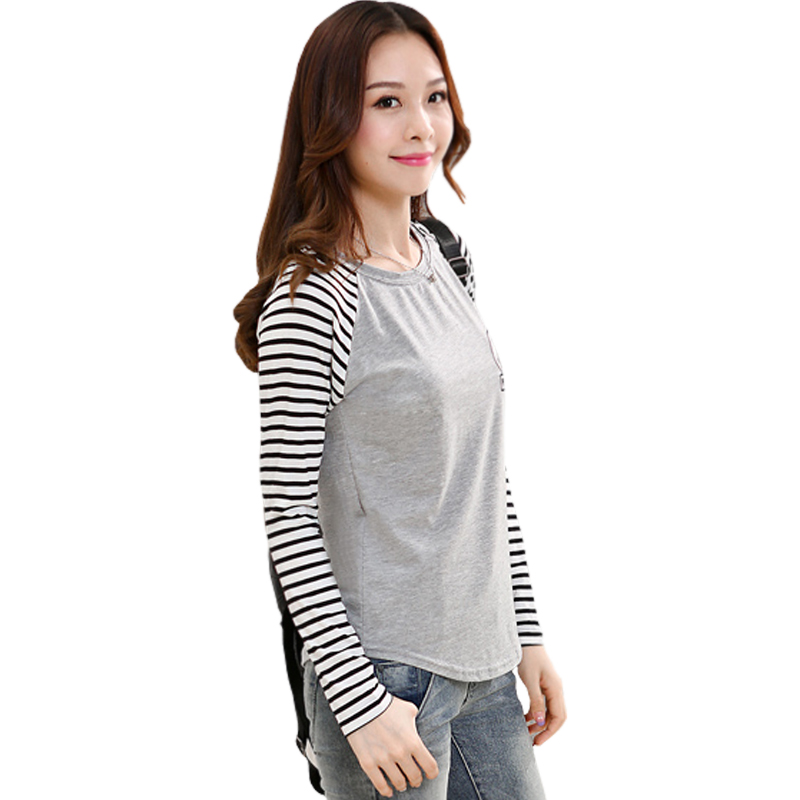 buy 2015 tee shirts women fashion brand t shirt contrast color striped casual. Black Bedroom Furniture Sets. Home Design Ideas