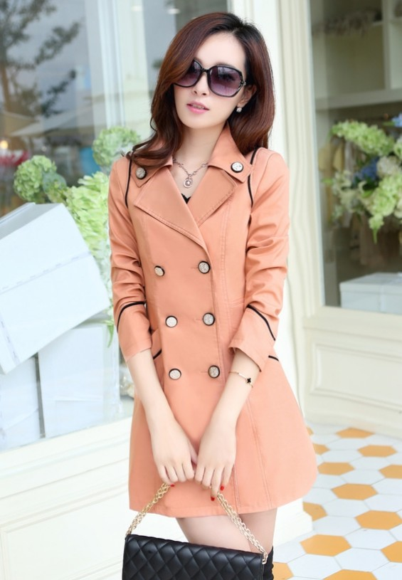 Plus size fashion casual slim gentlewomen medium-long women's trench outerwear - bingwen chen's store
