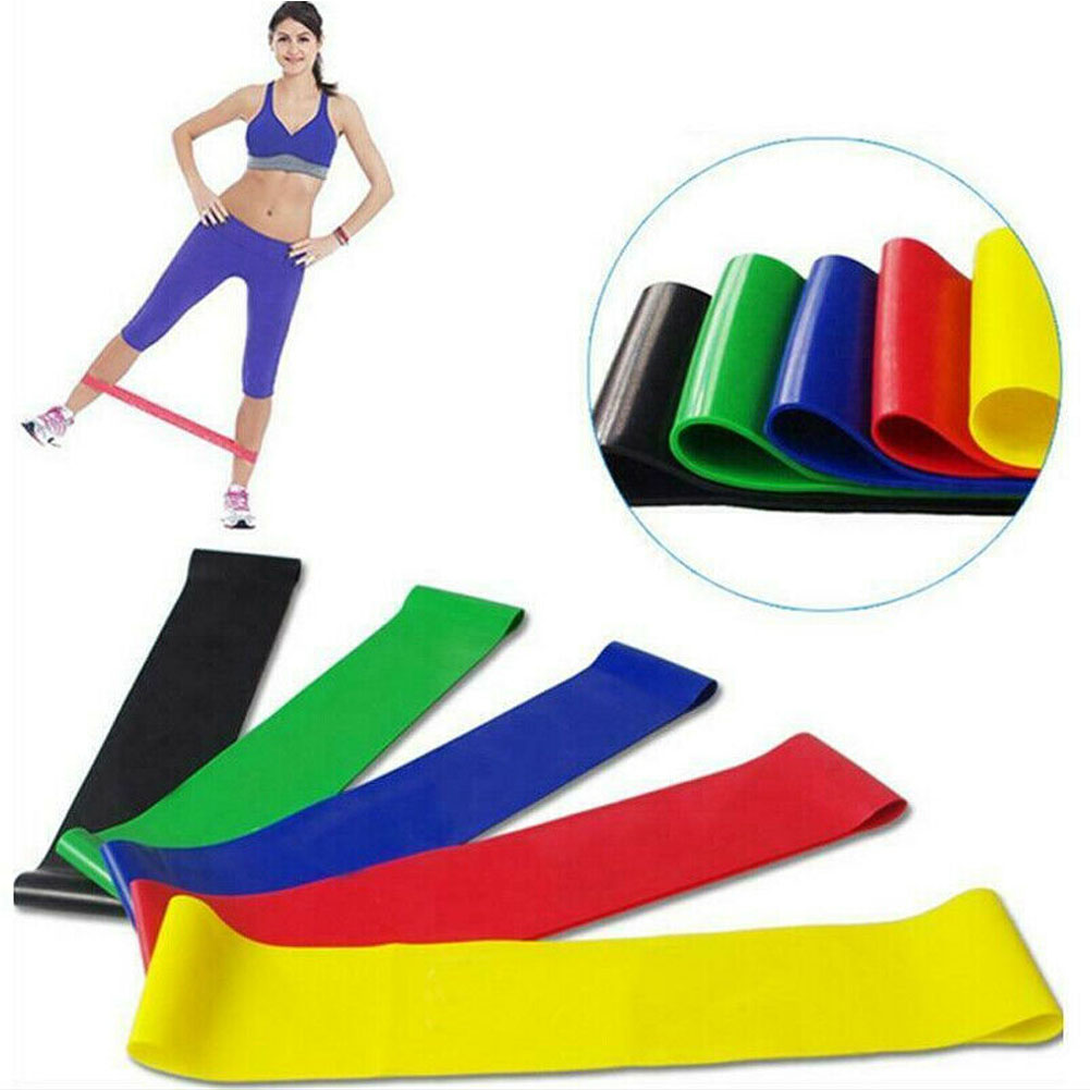 Resistance Bands Workout Loop Set 5 Legs Exercise CrossFit Fitness Yoga Booty