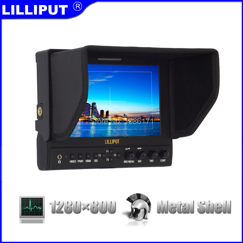 """LILLIPUT 663/O 7"""" Metal Shell Camera Secondary Monitor w/ HDMI Input&Output, YPbPr, Composite Video, Optimised for DSLR Cameras(China (Mainland))"""