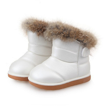 2016 Children Winter Girl & Boys PU Boots Kids Boots shoes size 5.5 6.5 7 8 9 10 11 11.5 12.5(China (Mainland))
