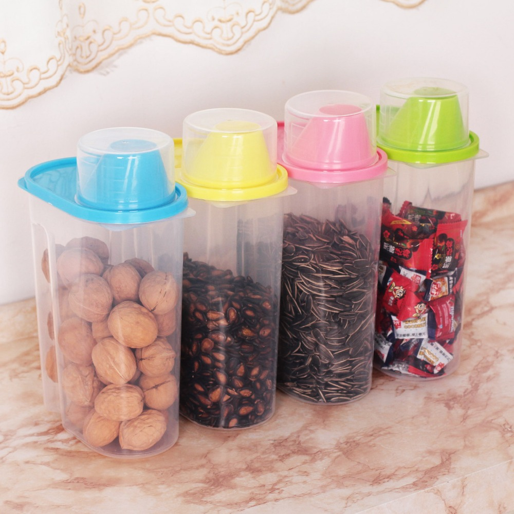 4 pc set kitchen plastic storage canisters large plastic