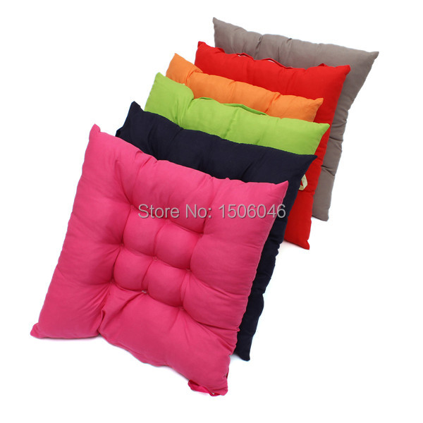 1pcs Soft Hot Home Office Decor Square Cotton Seat Cushion Pillow Buttocks Chair Cushion Free Shipping(China (Mainland))