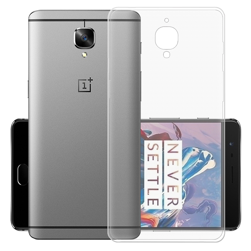 Cheap Mobile Phone Cases for OnePlus 3 3T Transparent Crystal TPU Thin Protective Case for One Plus 3 3T Back Cover Case(China (Mainland))