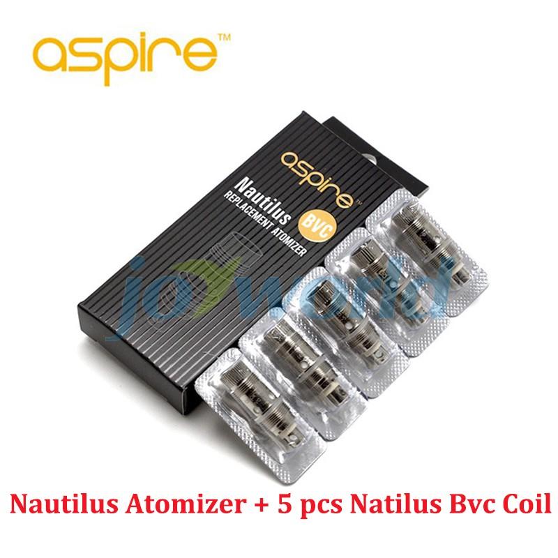 ถูก ของแท้100% Aspire Nautilusถังกับ5ชิ้นของAspire nautilus BVC coilบุหรี่อิเล็กทรอนิกส์VS Kanger evodล้าน(MM)