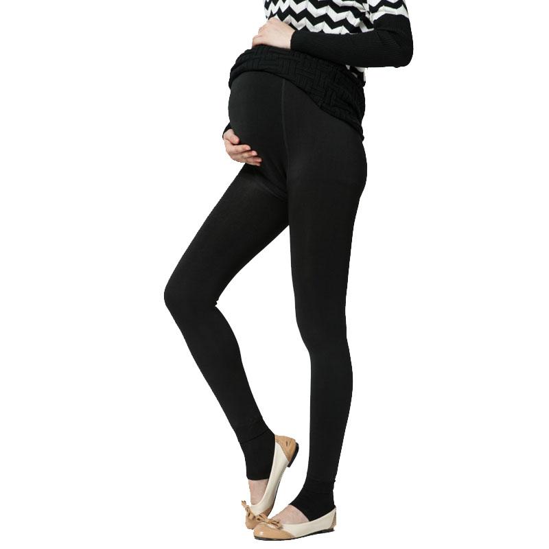 Plus Velvet Thickening Winter Maternity Leggings Pants ...