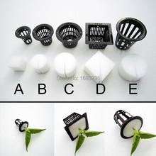 10 unids olla malla Net Basket + clon clonación Collar relleno de espuma de hidropónico Aeroponic(China (Mainland))