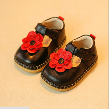New 2015 Cute Girls Shoes Sweet Princess Baby Girls Leather Shoes Genuine Leather Baby First Walkers #2245