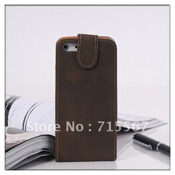 DHL/Fedex Free Shipping Retro luxury leather pouch case cover for iphone 5 5G, 20pcs/lot