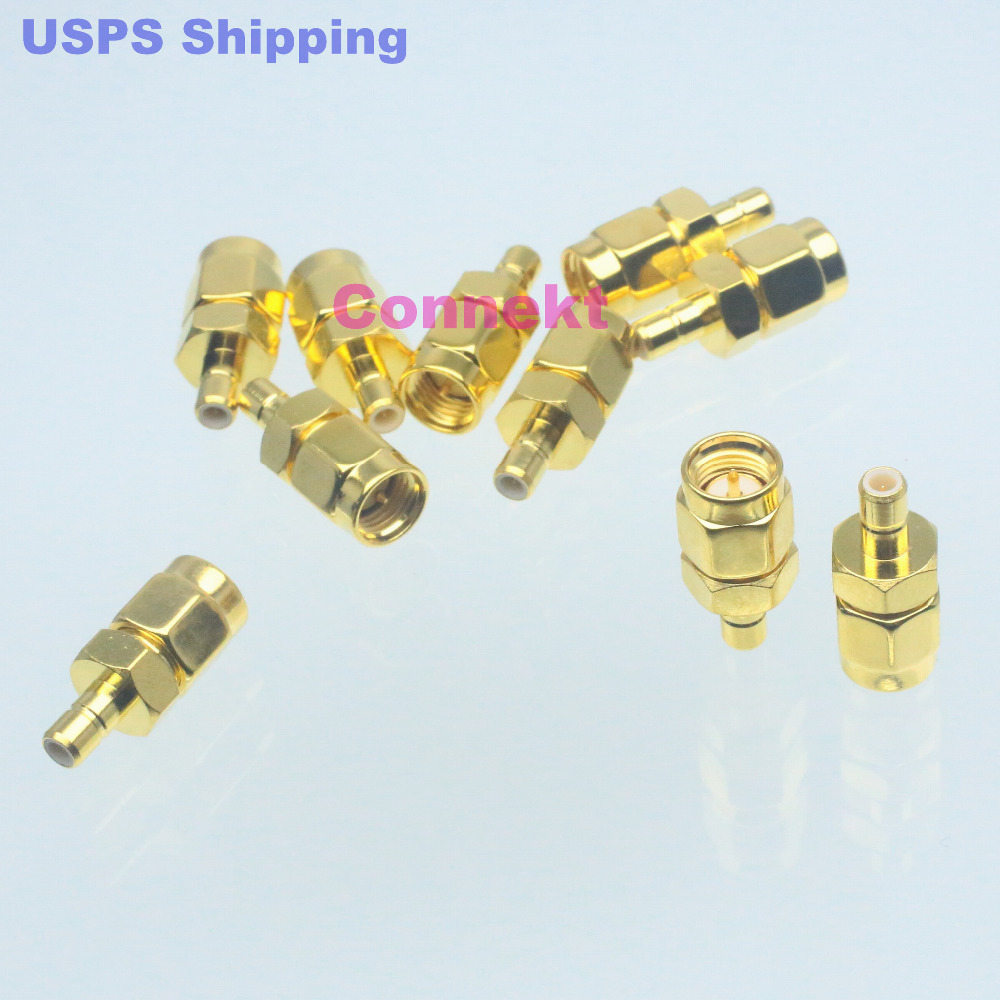 10pc Conversion Adapter SMA male M to SMB male M RF connector for Communication(China (Mainland))