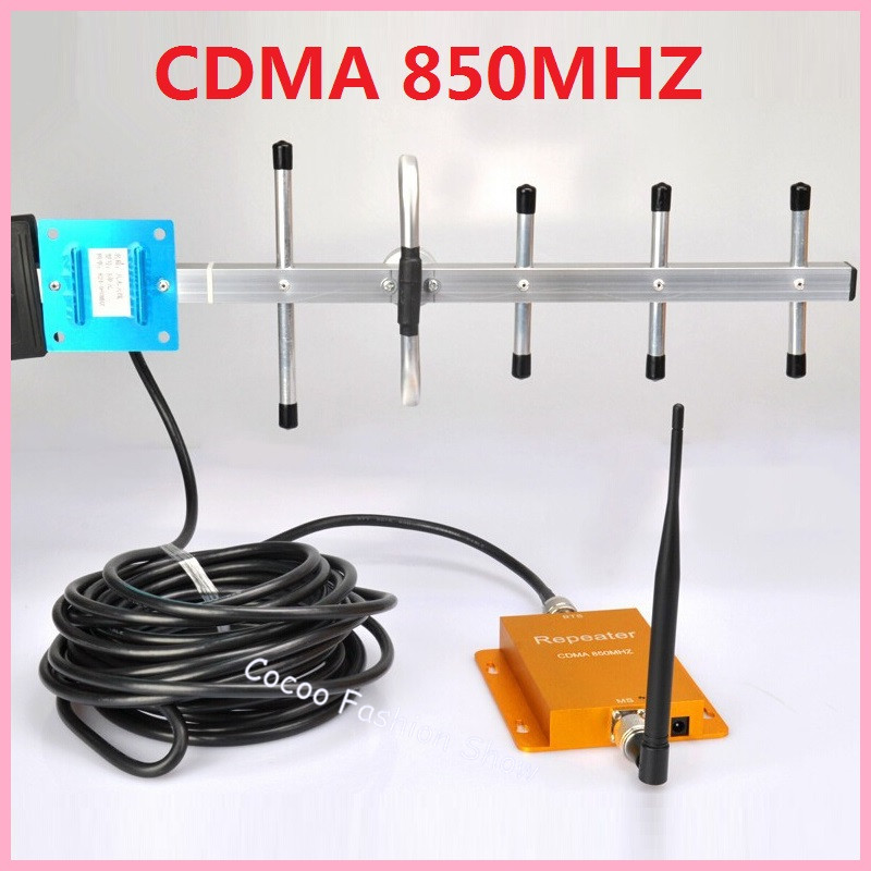 Hot Sell CDMA 850 Mhz GSM Repeater Booster Cell phone Mobile Signal Repeater Amplifier Booster & 10M Yagi Antenna Free Shipping(China (Mainland))