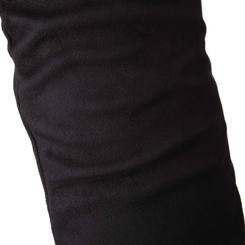 ซื้อ ENMAYESเซ็กซี่สีดำแบนด้วยฝูงมากกว่าที่หัวเข่ารองเท้ารองเท้าผู้หญิงลูกไม้สีดำบิ๊กSize34-47แพลตฟอร์มยาวบู๊ทส์สำหรับผู้หญิงใหม่