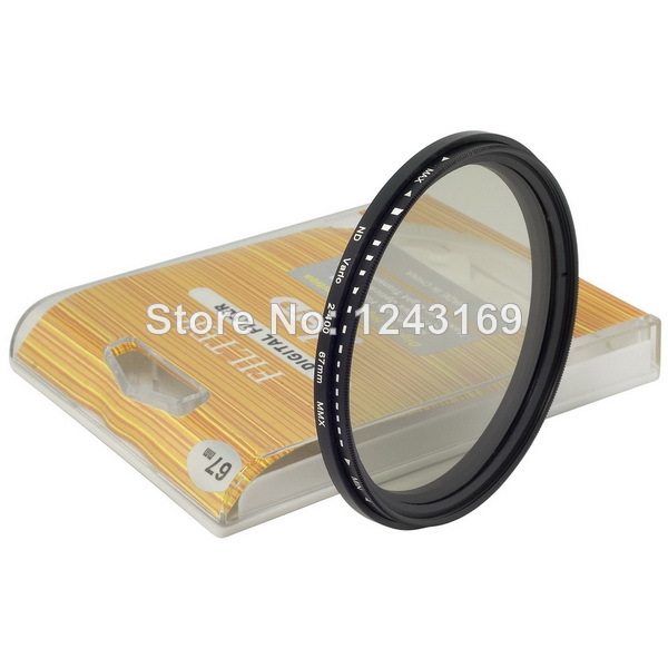 ND Filter 67mm Variable Neutral Density Lens Fader Adjustable ND2 to ND400 for Canon for Nikon for Pentax LF26-SZ+(China (Mainland))