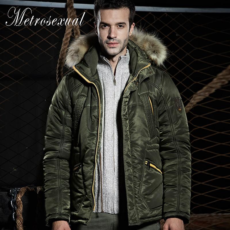 New Arrival Men Winter Fashion Casual Down Parka Hooded Man Coat Jacket Hooded Fur Collar Long  Plus Size Male Winter Coat