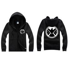 Agents of S.H.I.E.L.D. Men Zipper Hoodies Autumn Winter Sweatshirt Coat