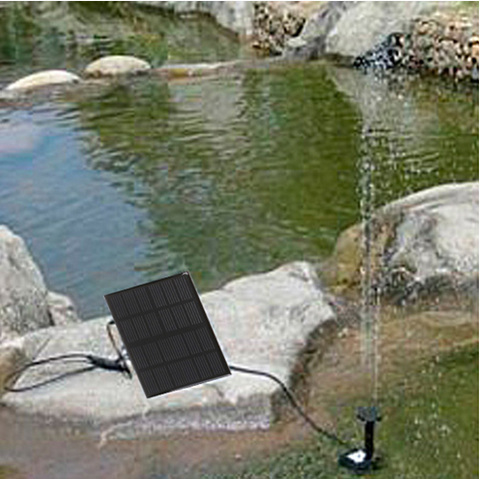 1.5W Solar Power Brushless Water Pump Garden Pool Pond Fountain Rockery Submersible - accloft .COM's store