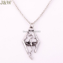 The Dinosaur Pendant Necklace Skyrim Elder Scrolls Dragon Pendants Vintage Necklace for Men/Women Jewelry