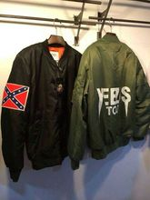 KANYE WEST YEEZUS tour MA1 pilot jackets limit edition black green colors yeezy flight parkas MERCH BOMBER MA-1 NAVY RED CROSS(China (Mainland))
